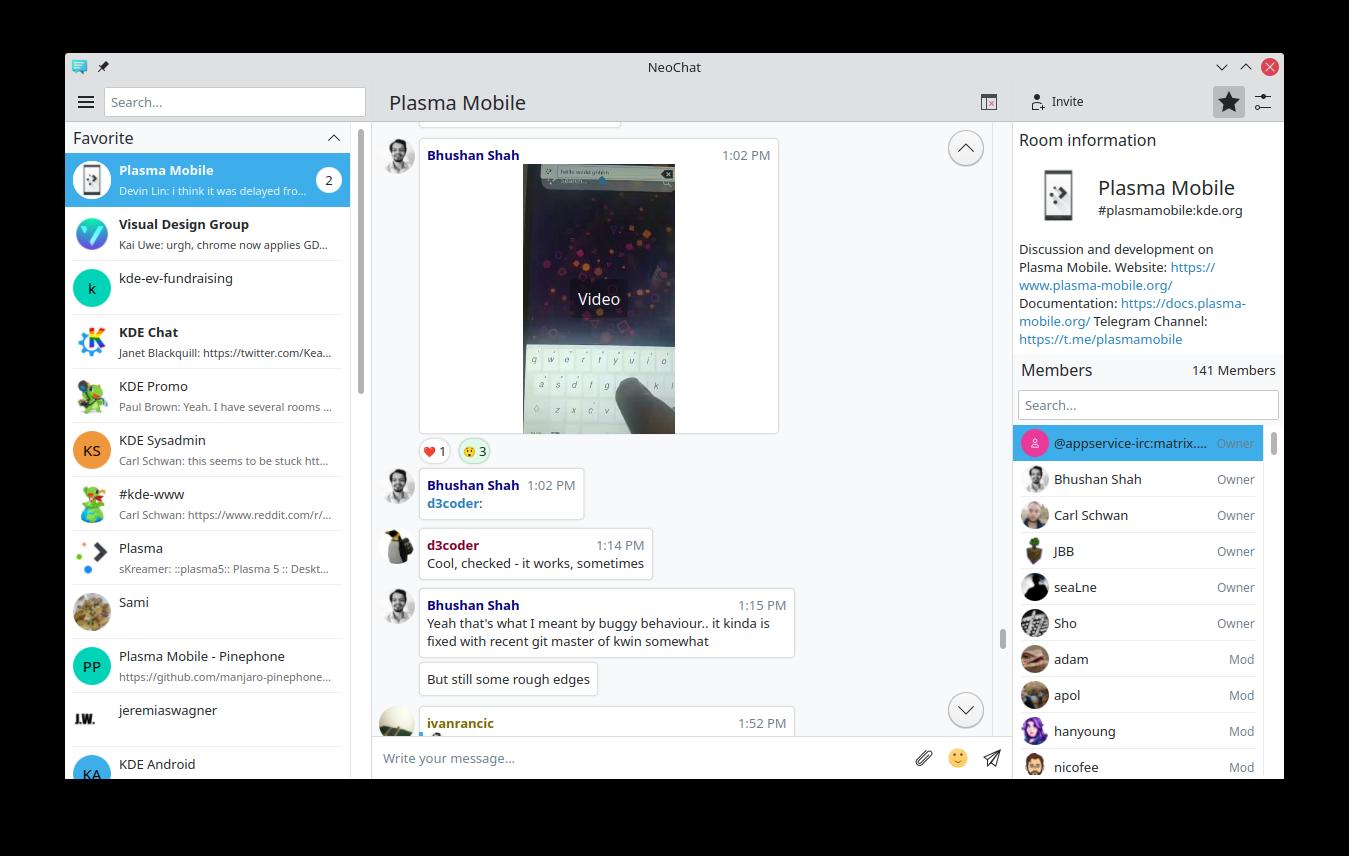 Screenshot of NeoChat 1.2