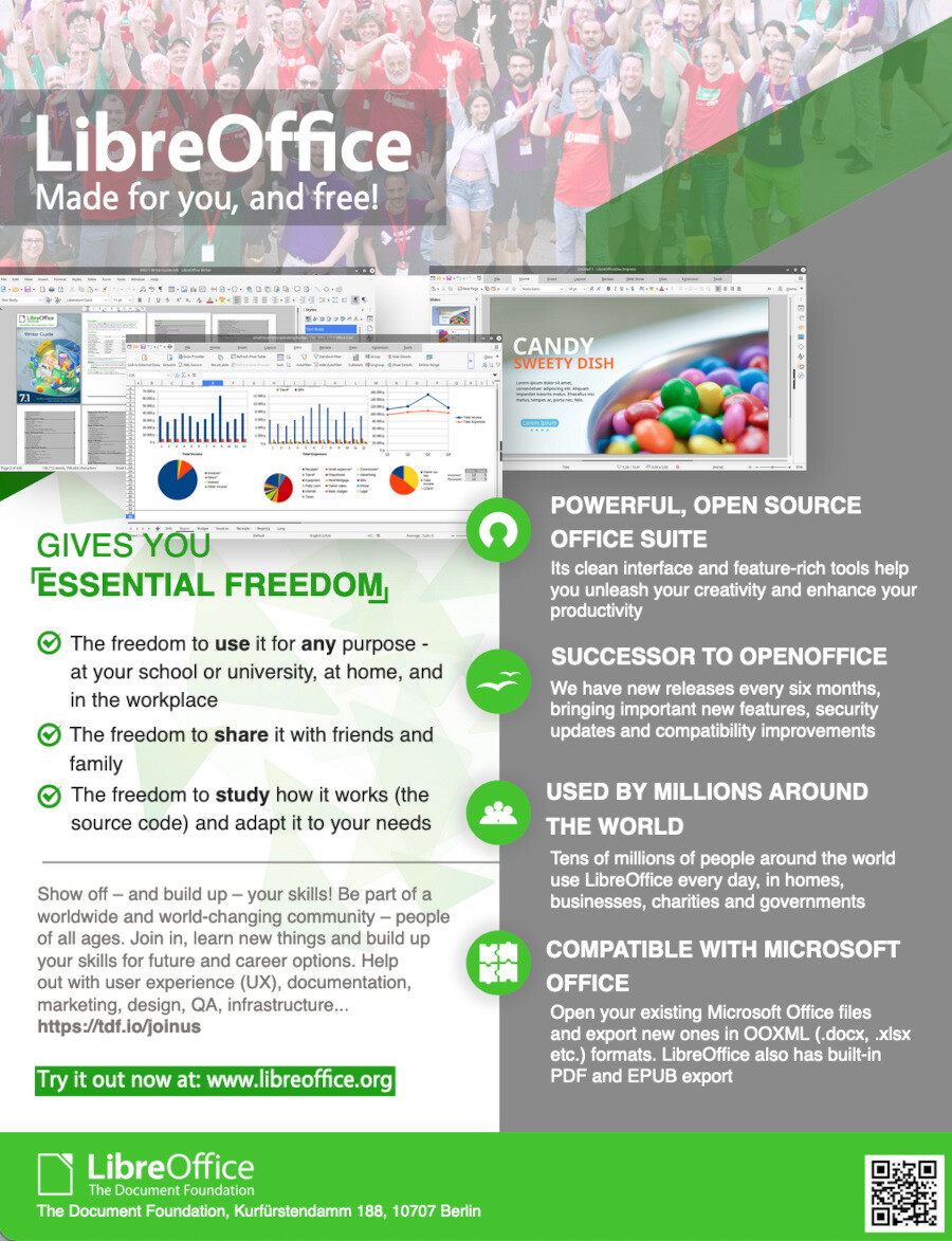 LibreOffice flyer for schools